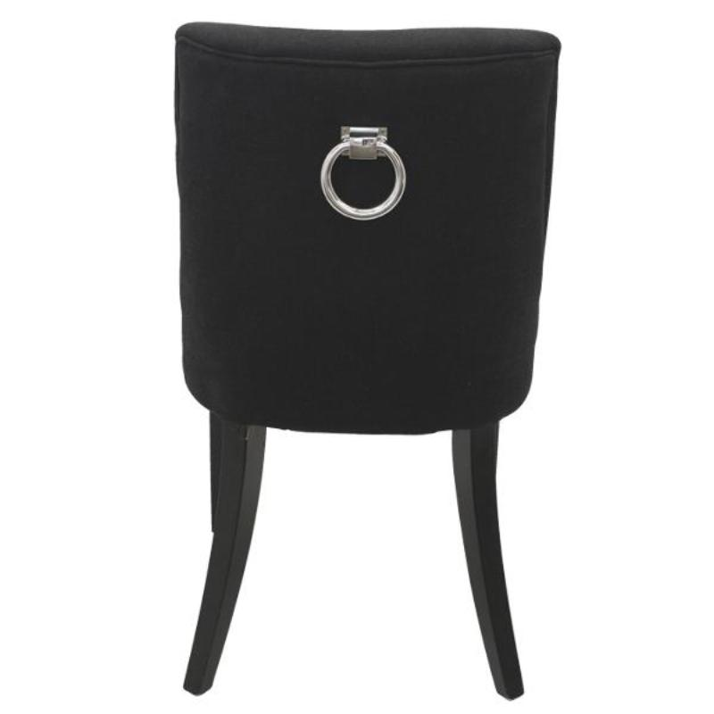 Ophelia Linen Dining Chair Black