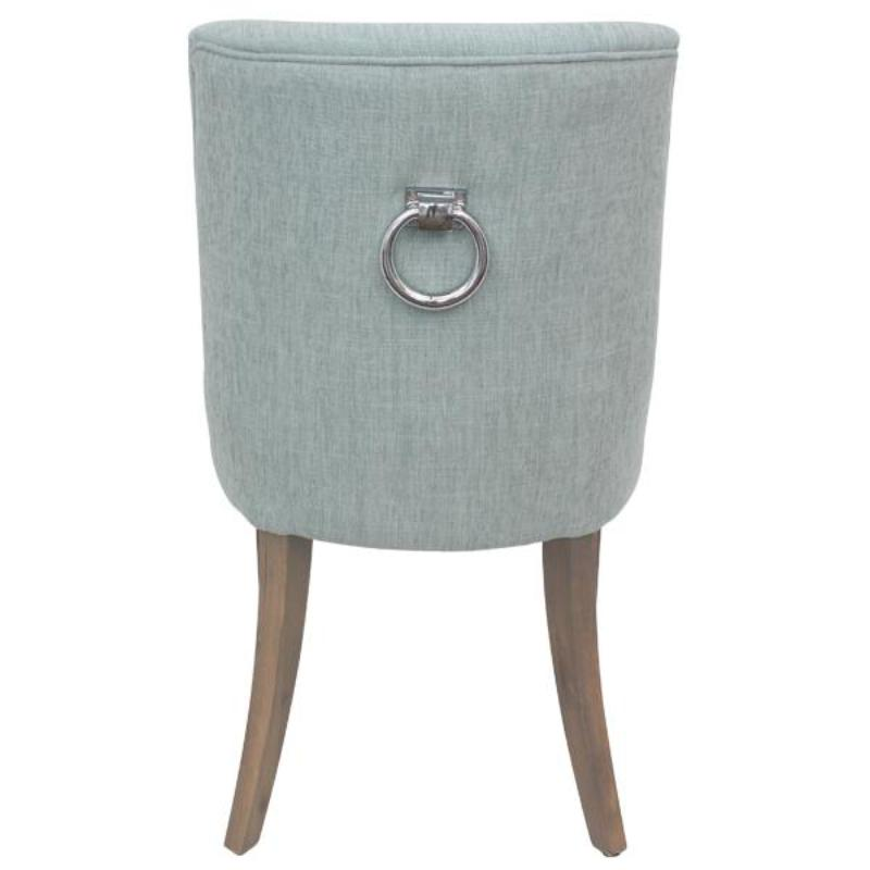 Ophelia Linen Dining Chair Seafoam