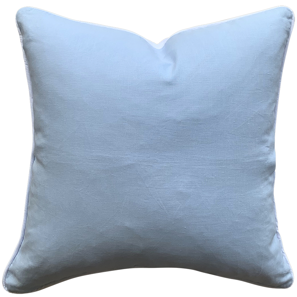 Baby Blue Linen Cushion