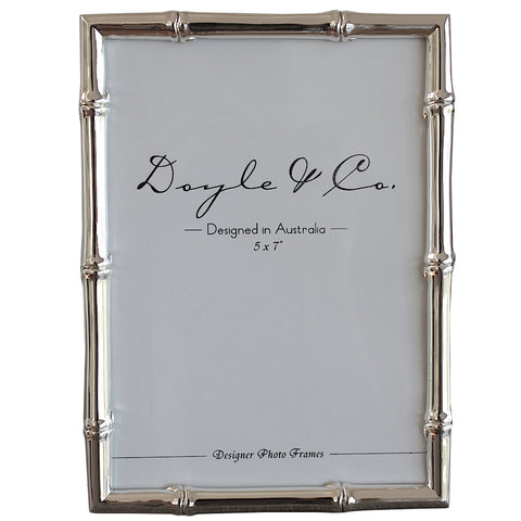 Silver Plated Bamboo Frame 5x7