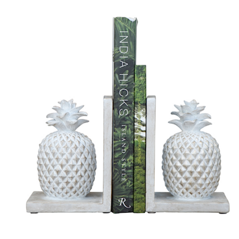 Barbados Pineapple Bookends