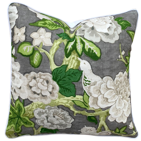 Schumacher Bermuda Blossoms Cushion