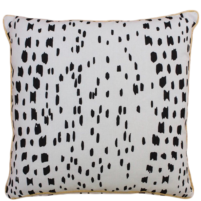 Black Leopard Cushion