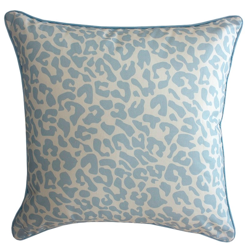 Leopard in Baby Blue Cushion
