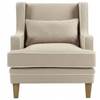 Bondi Natural Armchair with White Piping