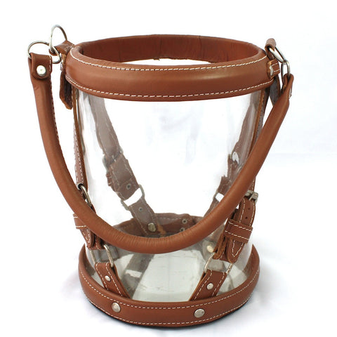 Colonial Leather & Glass Lantern