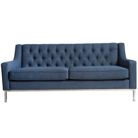 Denim Tufted Sofa