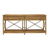Cayman Three Drawer Rattan Console