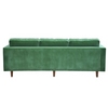 Evie Green Velour 3 Seat Sofa