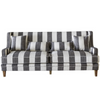 Bondi  Grey & Cream Wide Stripe 3 Seat Sofa
