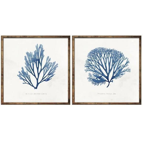 Set 2 Blue Coral Artworks