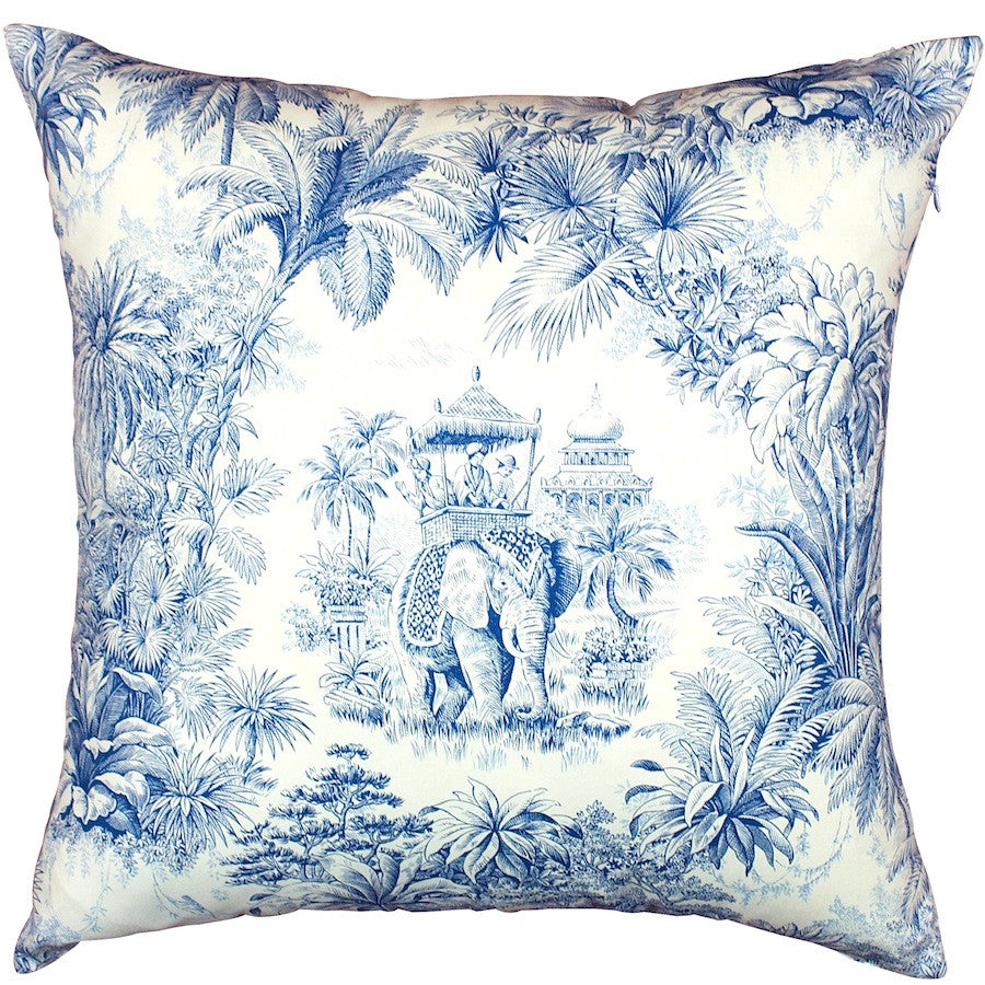 Indigo Maharajah Colonial Cushion