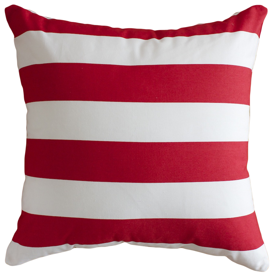 Red & White Stripe Cushion