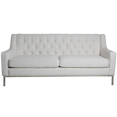 Ivory Tufted Sofa