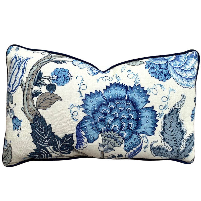 Jacobean Blossoms Cushion Oblong
