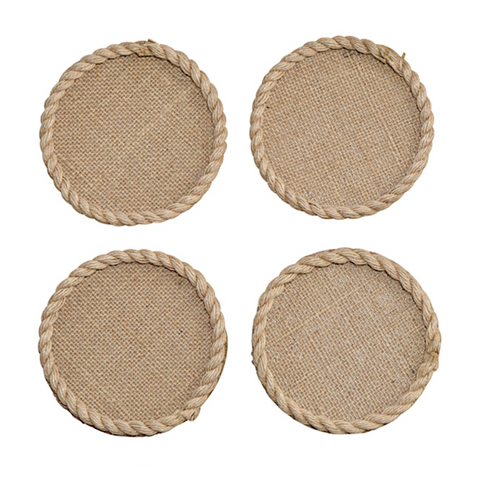 Set of 4 Jute Coasters