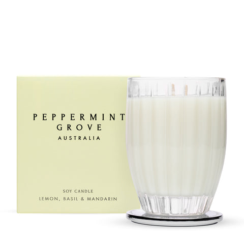 Peppermint Grove Lemon Basil & Mandarin- LARGE CANDLE 350G