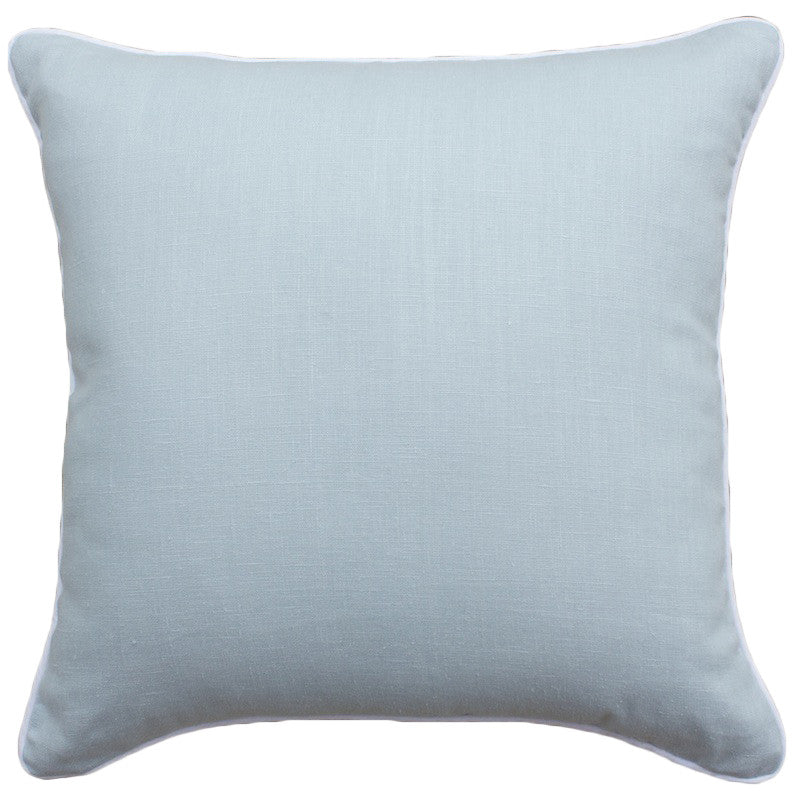 Ocean Blue Linen Cushion