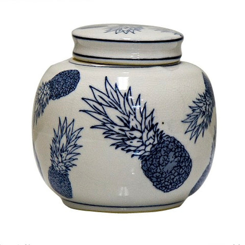 Pineapple Ceramic Ginger Jar
