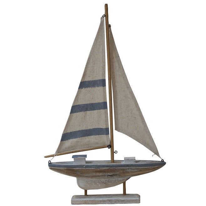 Neutral & Pale Blue Sail Boat