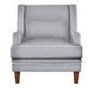 Grey Armchair with White Piping