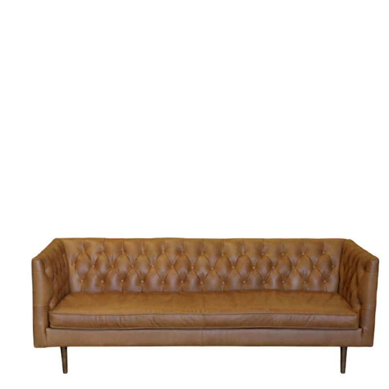 Abby 3 Seat Russet Leather Sofa
