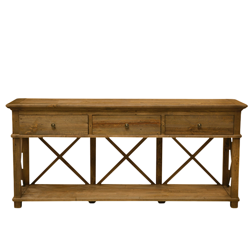 Sorrento 3 Drawer Console Table