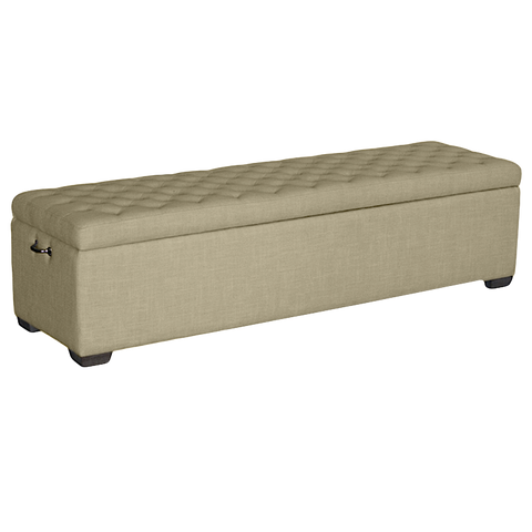 Beige Linen Bed Box