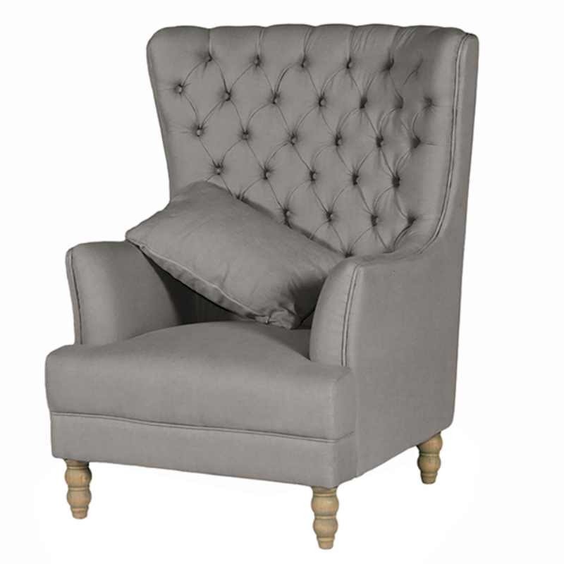 Elizabeth Wing Chair Storm Grey