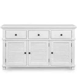 West Beach 3 Drawer Buffet White