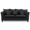 Black Studded 3 Seat Sofa