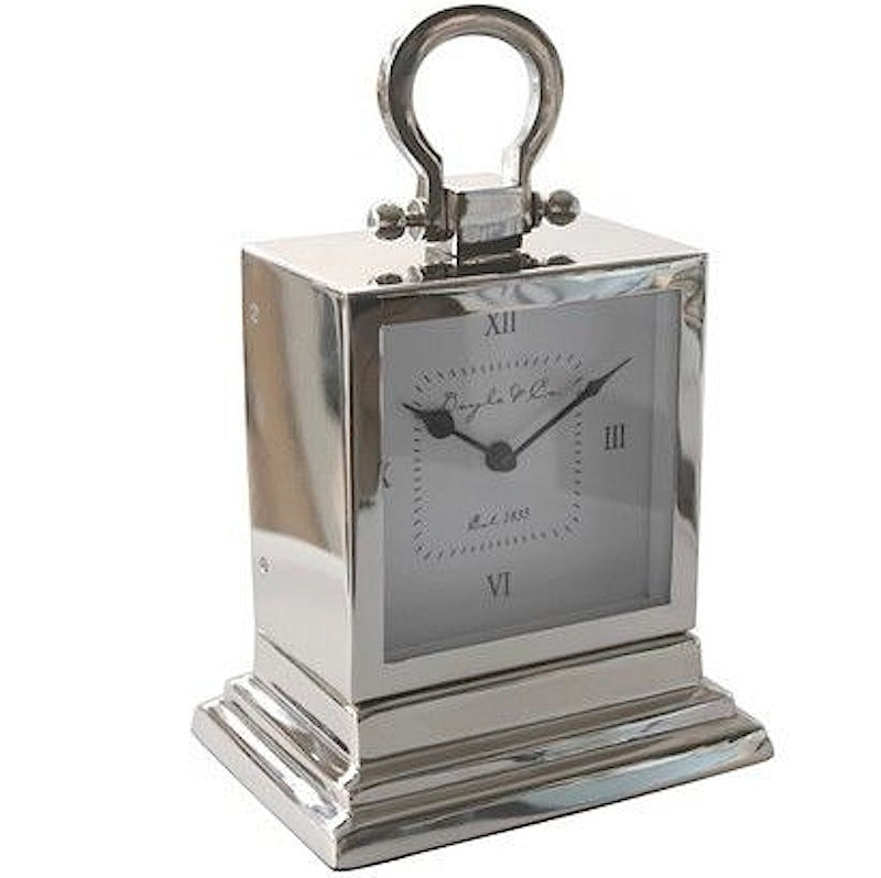 Nickle Stepped Mantle Clock