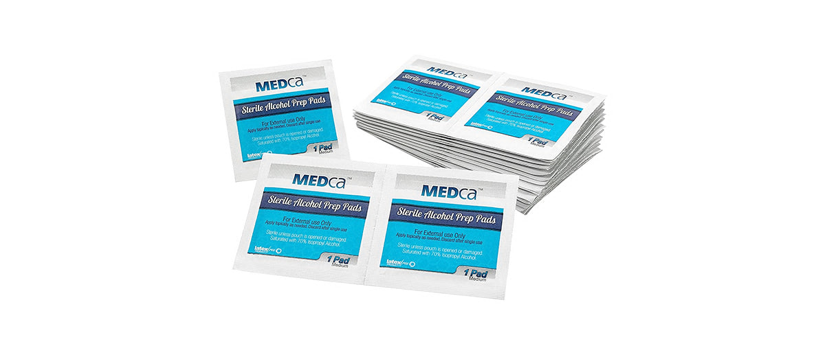 2-Ply Alcohol Prep Pads by MEDca
