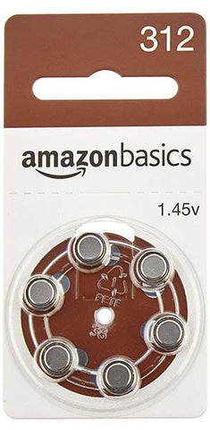 A312 Hearing Aid Batteries by AmazonBasics