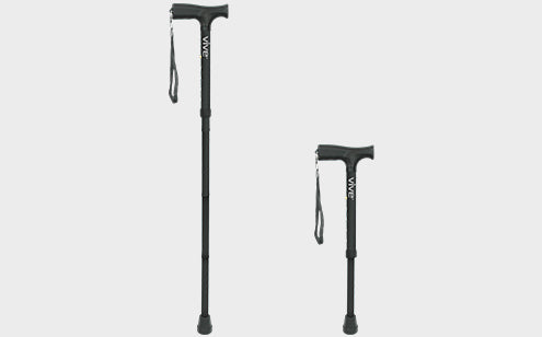 Folded cane adjustable height