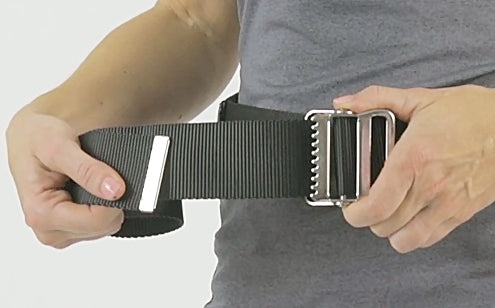 Transfer belt with metal buckle