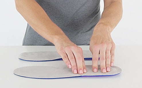 Pressing full length gel insoles