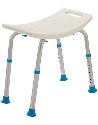 Adjustable Bath and Shower Chair with Non-Slip Seat by AquaSense