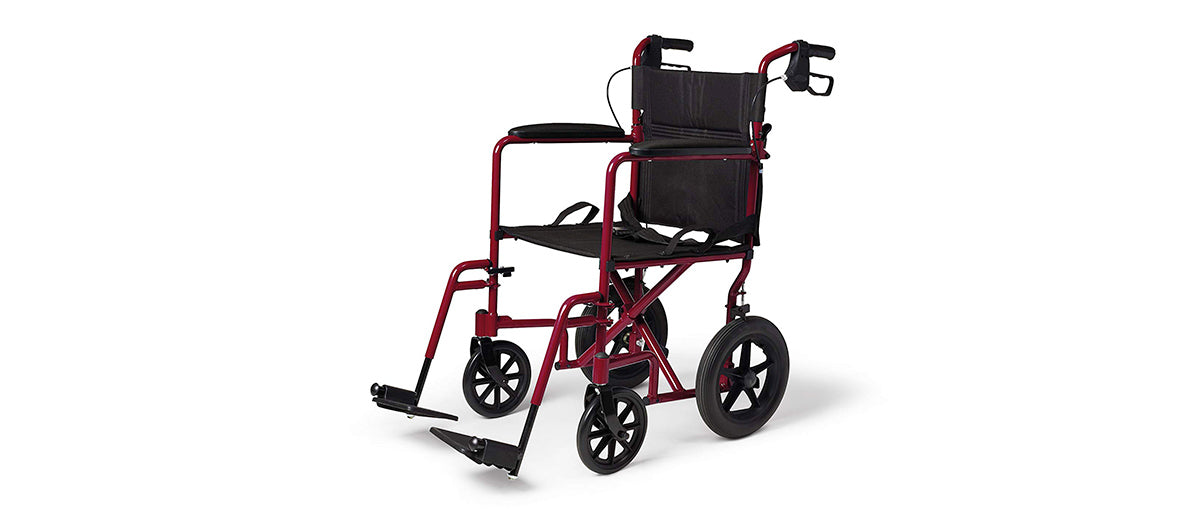 Adult Folding Transport Wheelchair by Medline