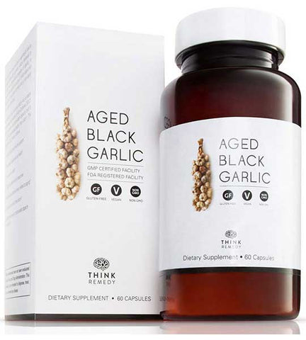 Aged Black Garlic Capsules by Think Remedy