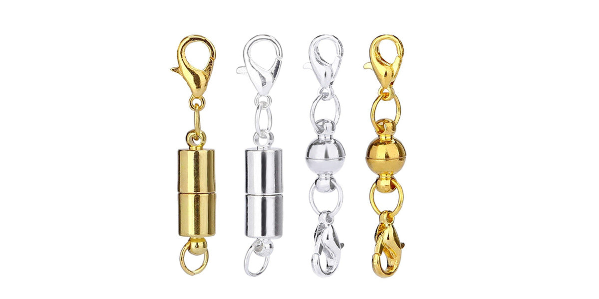 Aiskaer 16 Pcs Gold Color and 16 Pcs Silver Color Magnetic Lobster Clasps