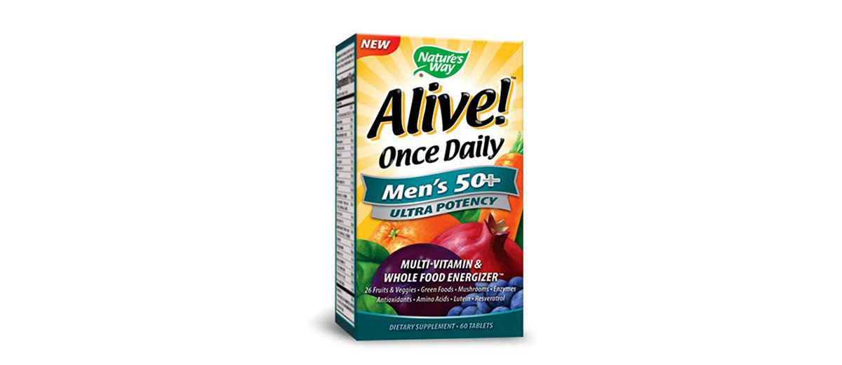 Alive Once Daily Men's 50+ Tablets by Nature's Way