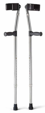 Aluminum Forearm Crutches by Medline