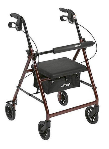 Aluminum Rollator Walker with 6-inch Wheels by Drive Medical