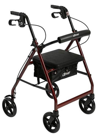 Aluminum Rollator with 7.5-inch Casters by Drive Medical