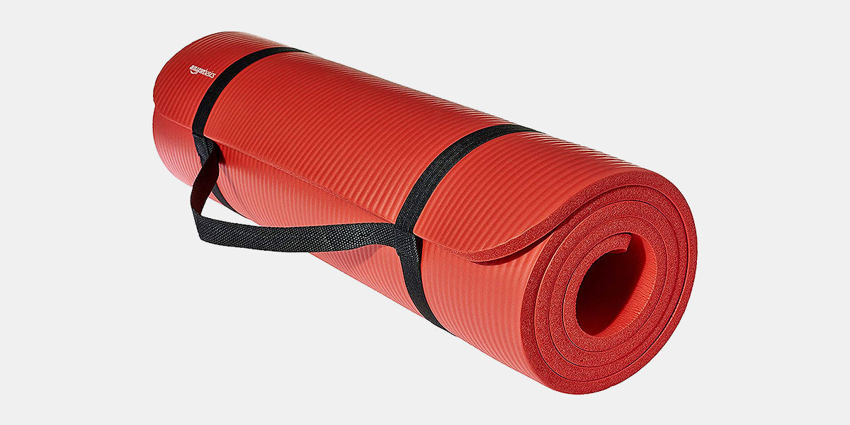 1/2-Inch Extra Thick Exercise Mat with Carrying Strap by AmazonBasics