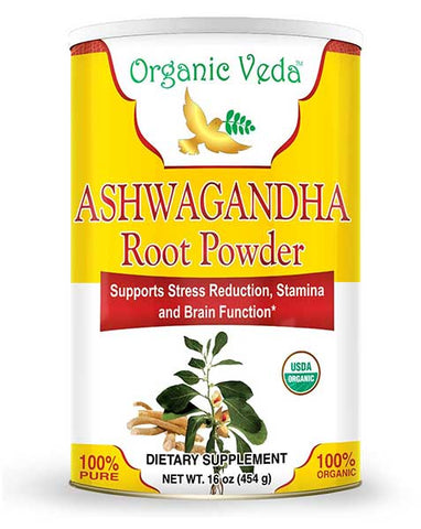 Ashwagandha Root Powder Supplements by Organic Veda