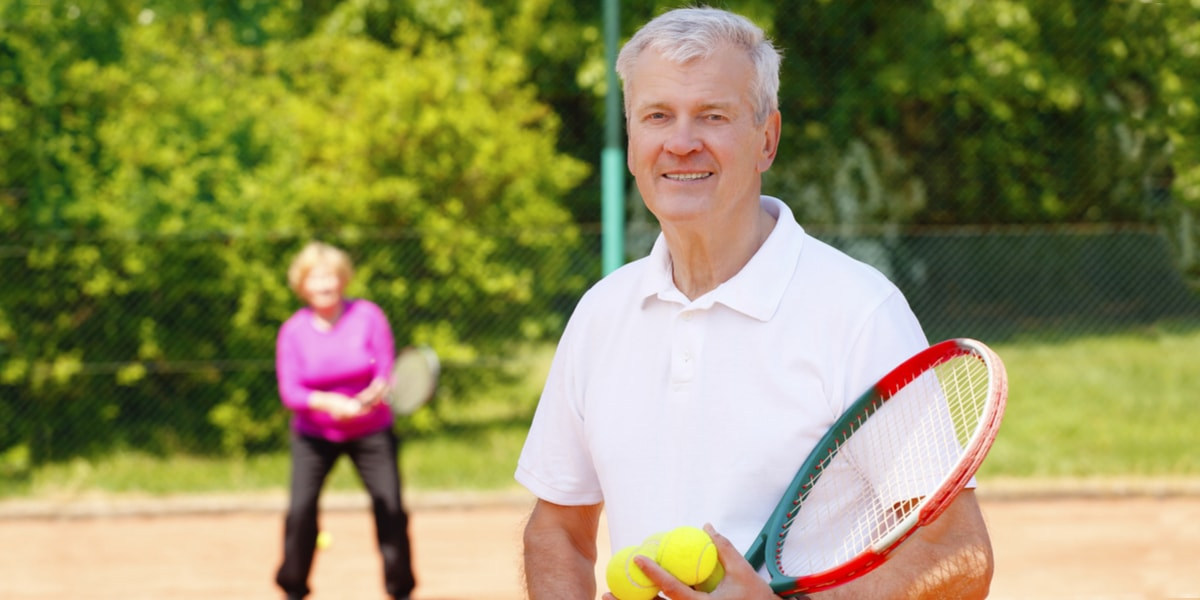 Couple at Tennis Court