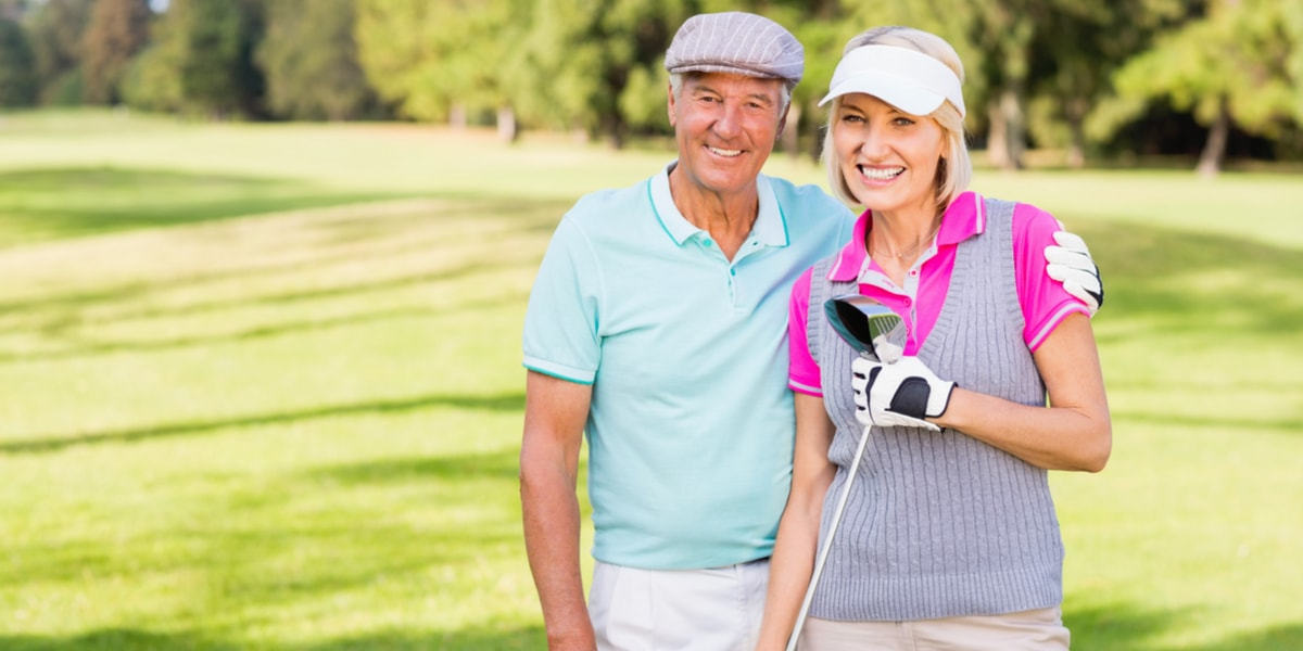 Senior Couple at Golf Course