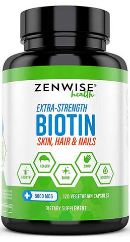 Biotin with 5000 MCG by Zenwise Health